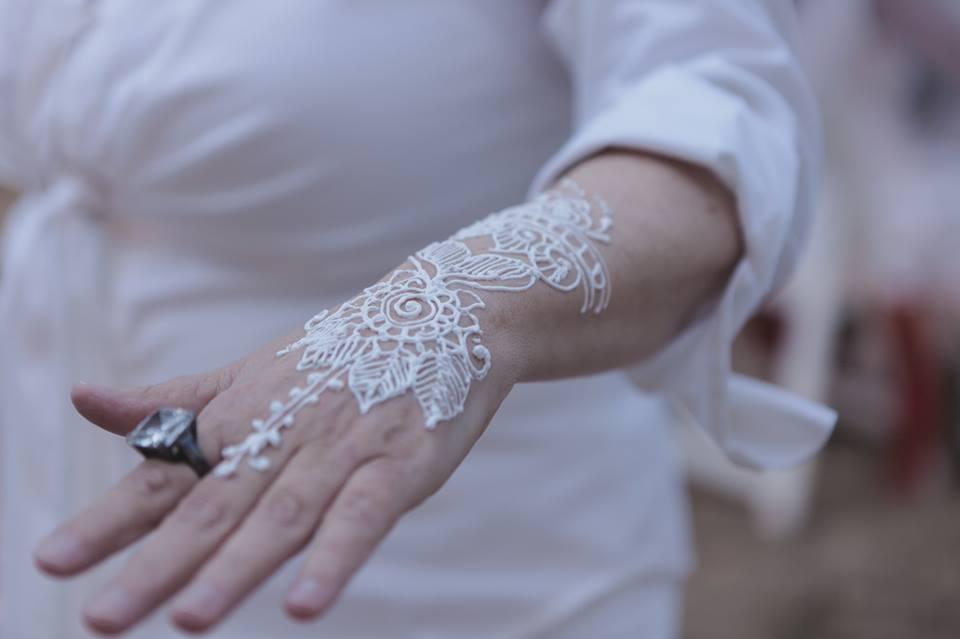 White Henna by Grand Cayman Henna Artist, Shilpa