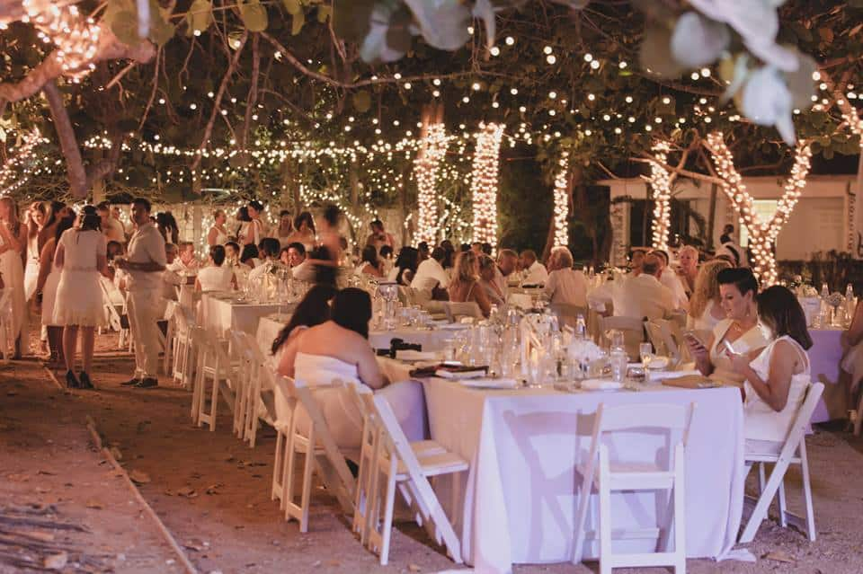 throughout the outdoor space - absolutely magical lighting by Celebrations Ltd.