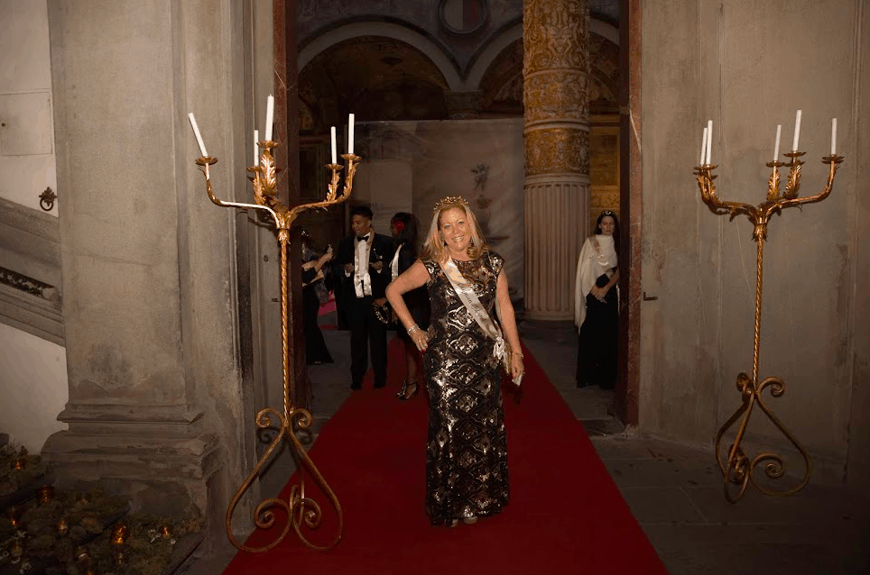 Jo Anne V. Brown arriving to the Destination Wedding Planners Congress in Florence Italy