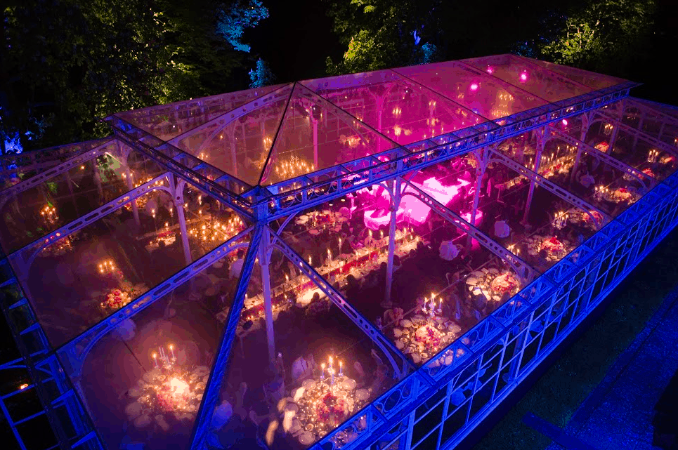 amazing wedding tent evening in italy at the florence villa