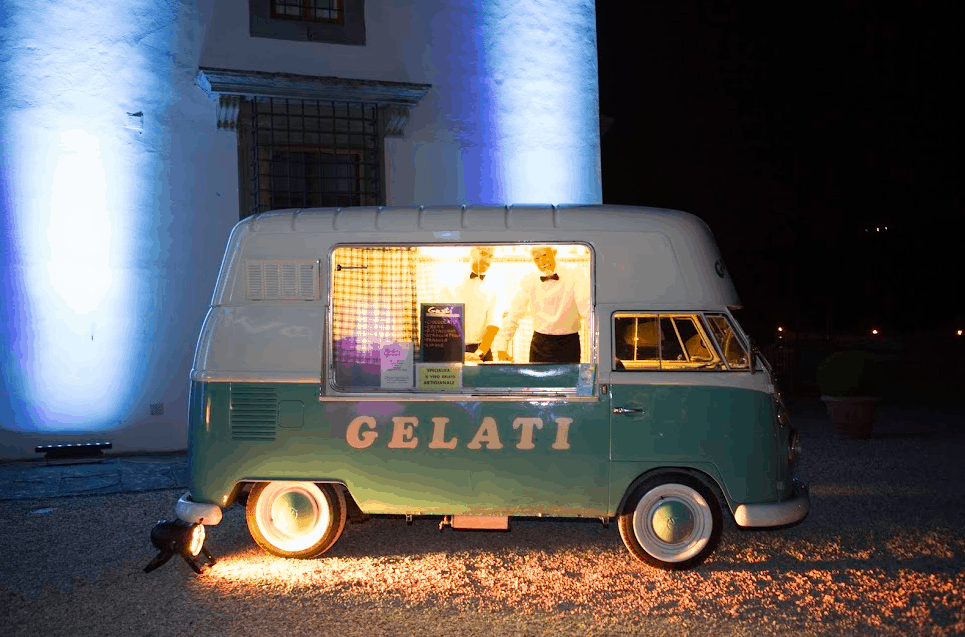 Gelati truck in italy - weddings