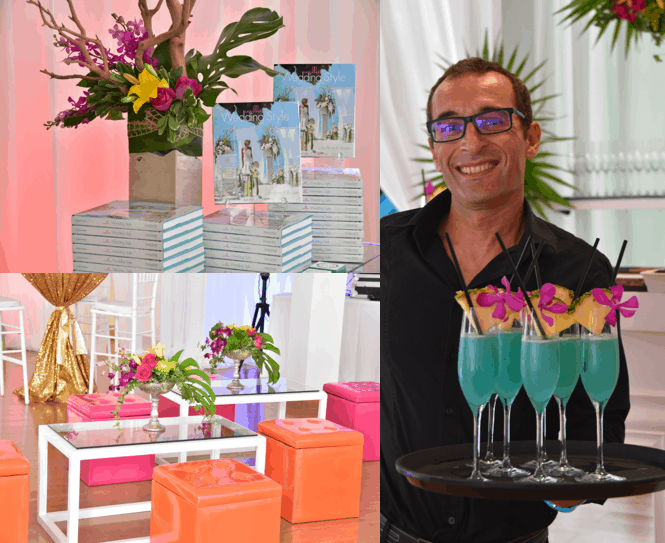 details from the launch party of caribbean wedding style