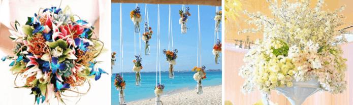 Beautiful Caribbean Wedding Flower Details