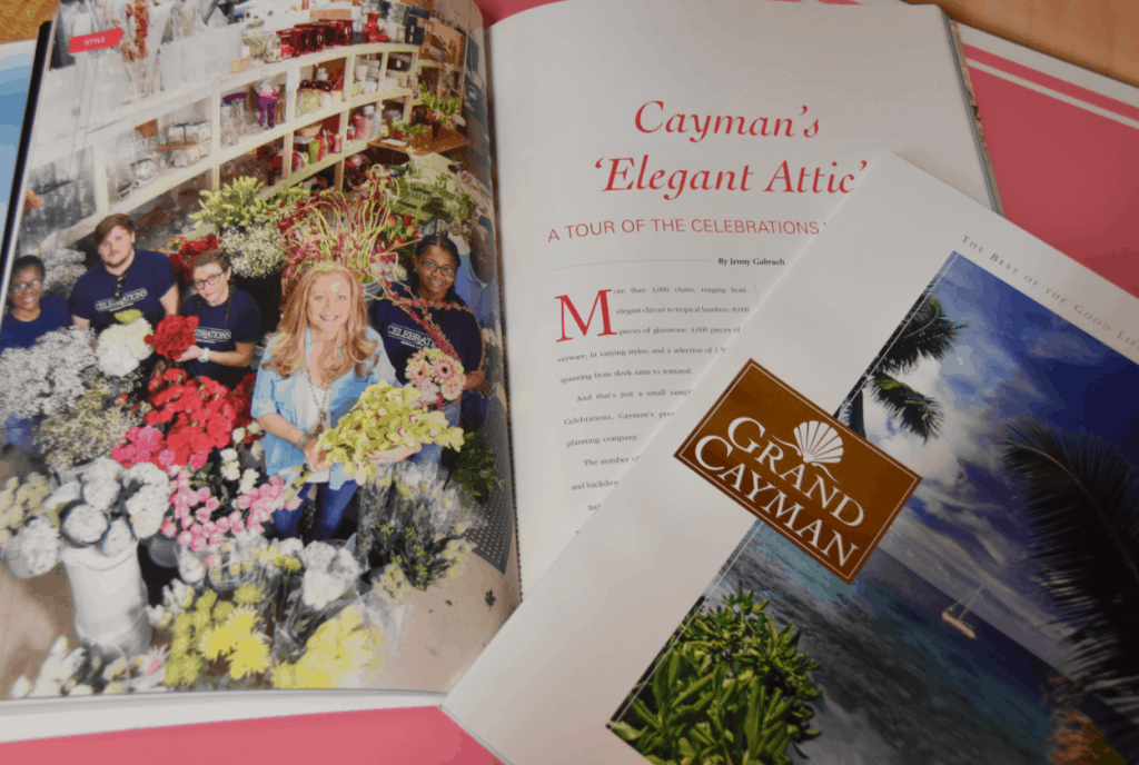 CELEBRATIONS WEDDINGS & EVENTS FEATURED IN GRAND CAYMAN MAGAZINE!
