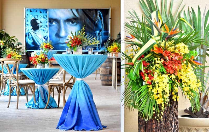 cayfilm. tropical decor, tropical flowers