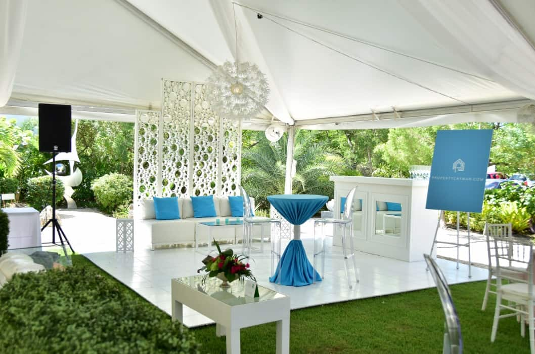 chic outdoor event lounge for corporate function