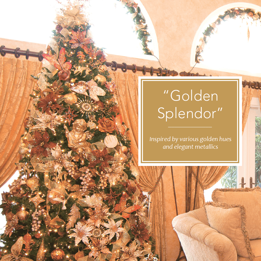 Gold Elegant Christmas Tree Decorating Theme