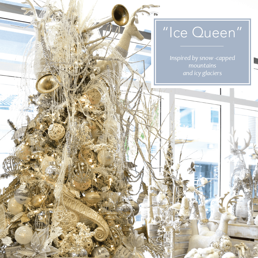 Frosty Ice Queen Christmas Tree Decorating Theme
