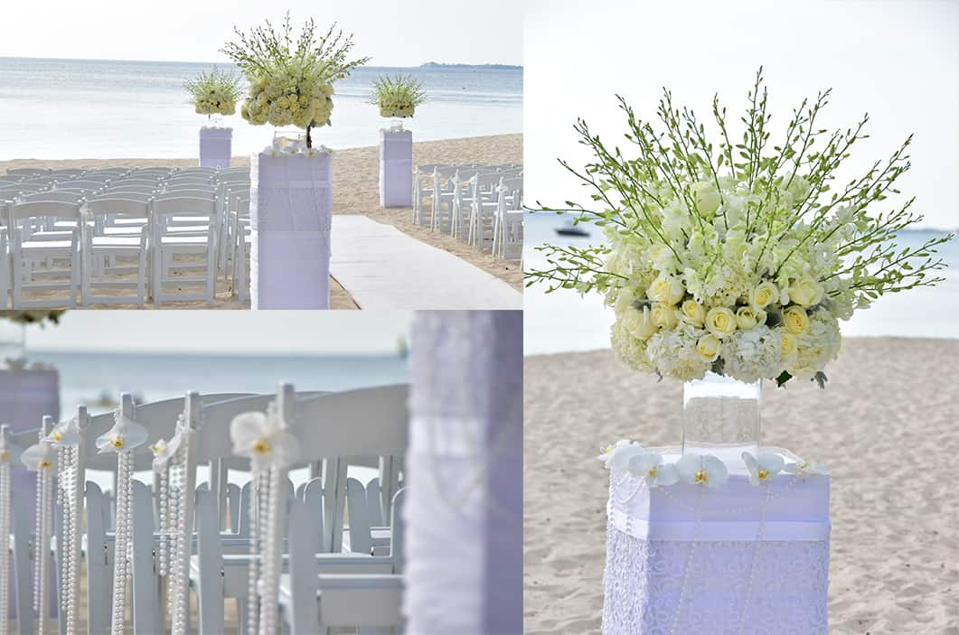 beach ceremony - all white wedding - getting married in the cayman islands