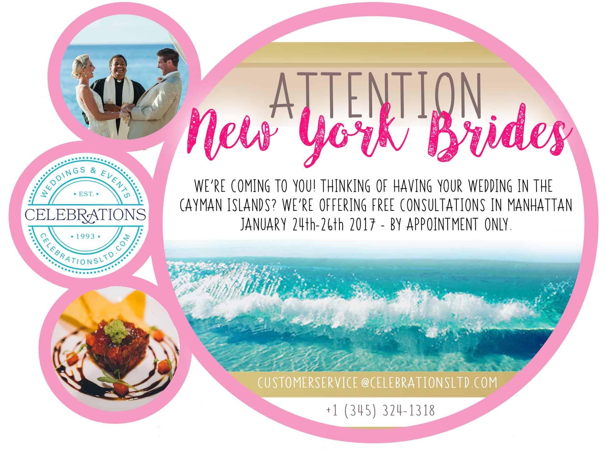 WE'RE COMING TO NEW YORK! FREE CAYMAN ISLANDS WEDDING CONSULTATIONS IN MANHATTAN