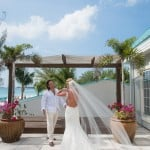 Wedding - Beautiful couple getting married in the Cayman Islands for their all white beach wedding.