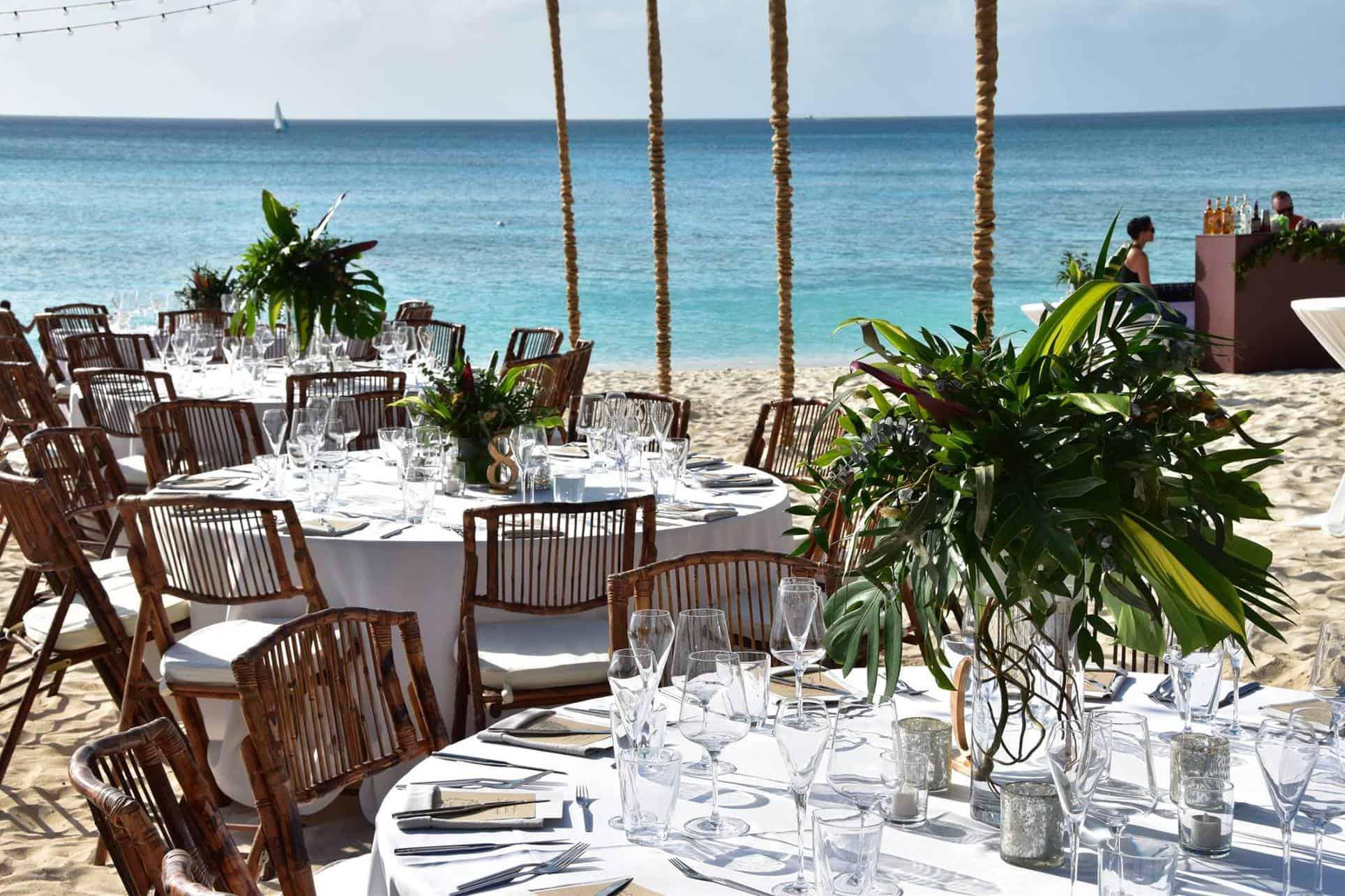Boho Beach Wedding Ceremony Reception