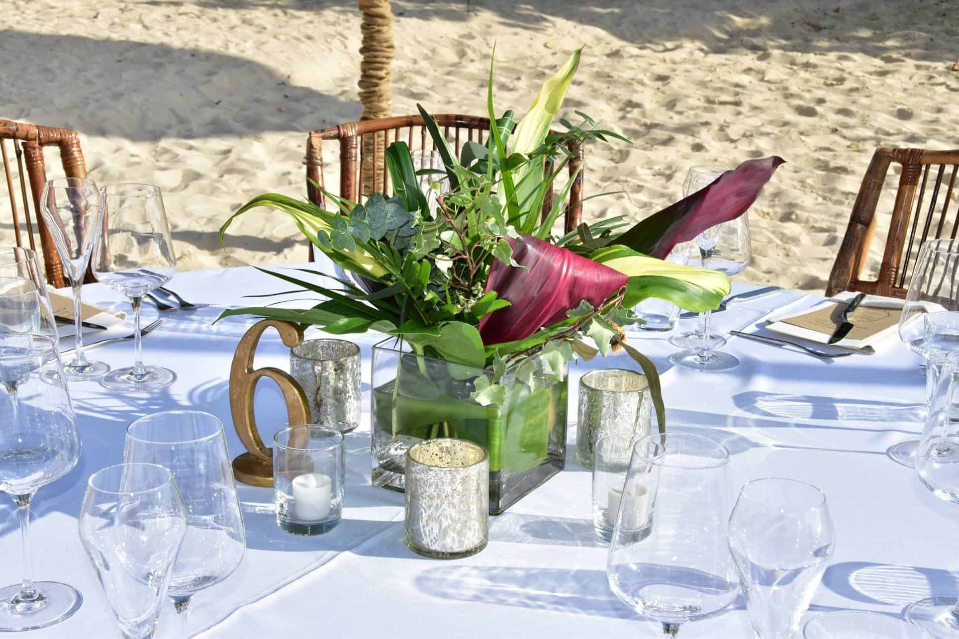 Boho Beach Wedding Centerpieces Tropical But ClassyBoho Ceremony Reception