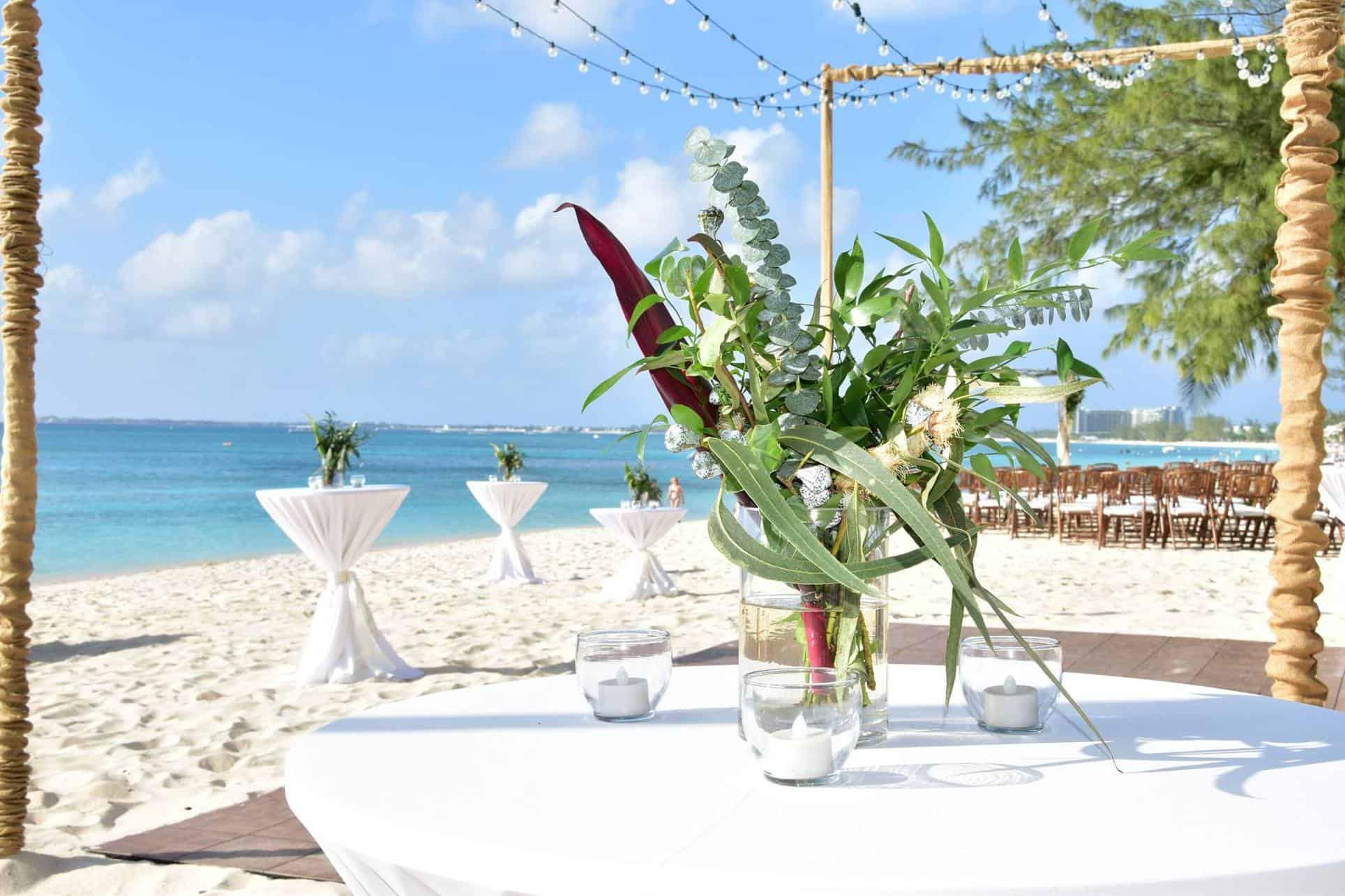 Boho Beach Wedding Centerpieces Tropical but ClassyBoho Beach Wedding Ceremony Reception