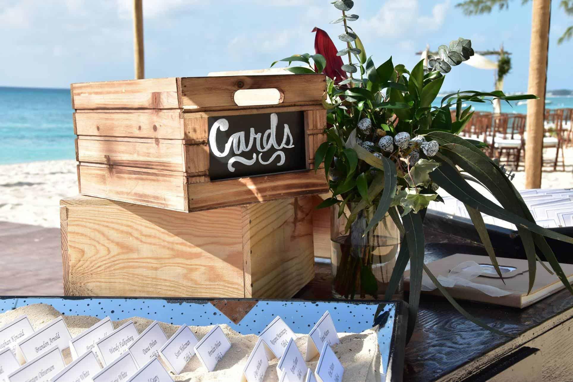 Boho Beach Wedding Centerpieces Tropical but ClassyBoho Beach Wedding Ceremony Seating Chart Cards