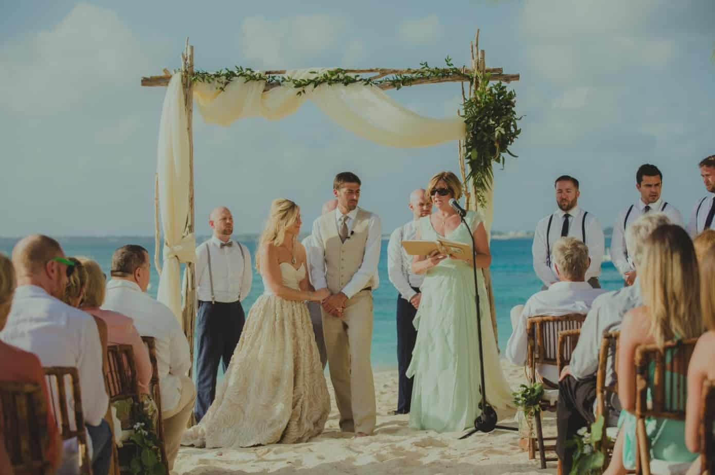 Beach Wedding Ceremony Oahu: BEAUTIFUL BOHO-CHIC GRAND CAYMAN BEACH WEDDING
