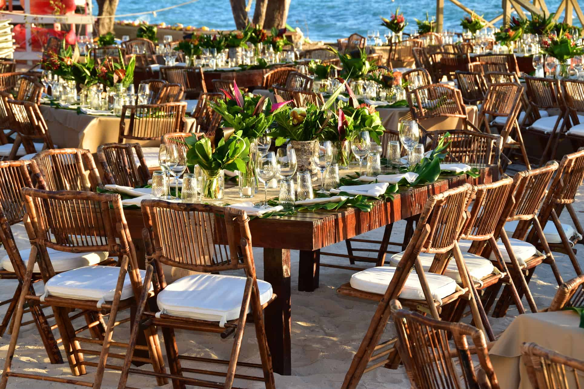 corporate tropical beach event reception cayman islands by celebrations ltd.