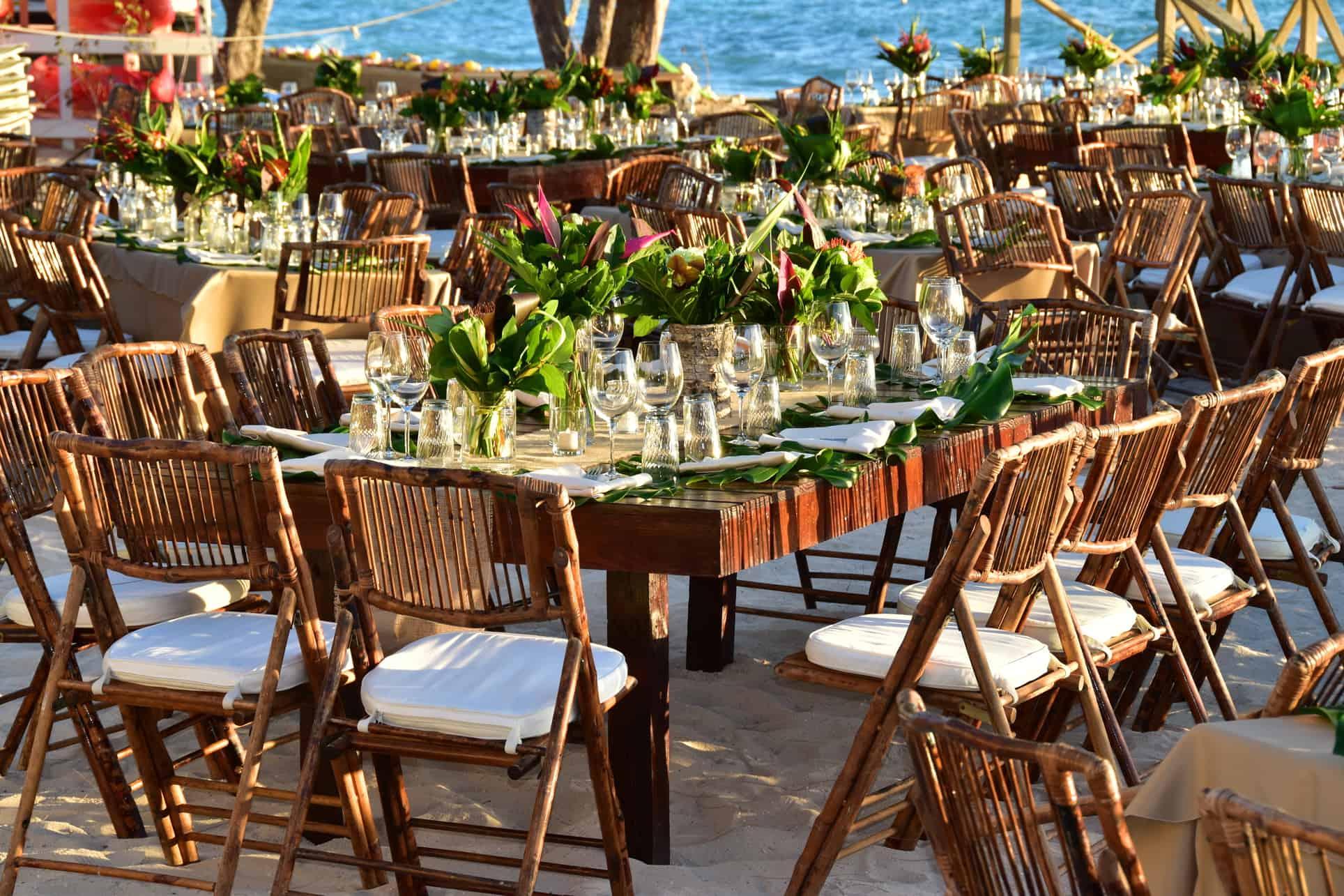 corporate tropical beach event reception cayman islands by celebrations ltd.