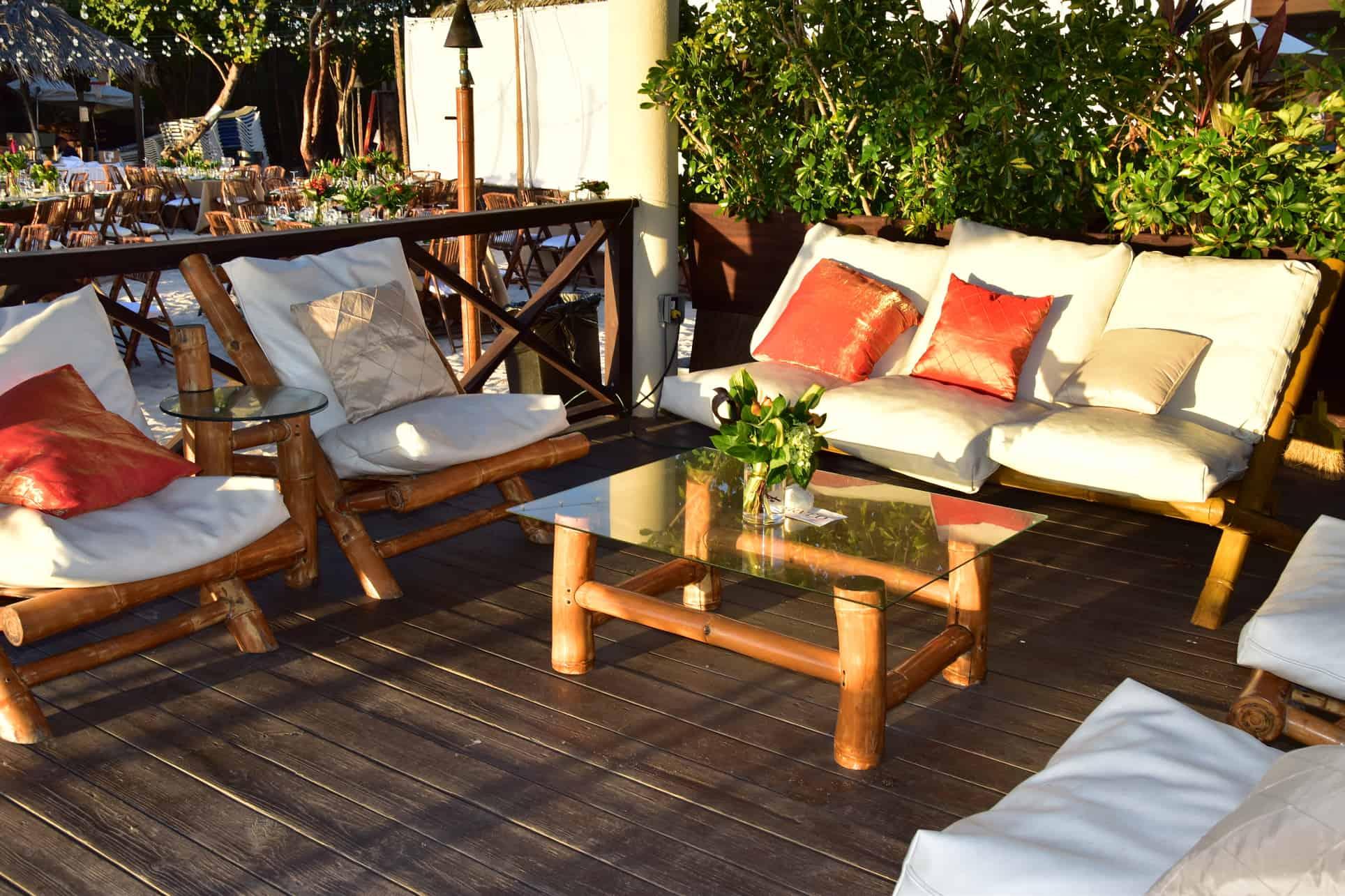 corporate event lounge beach cayman islands