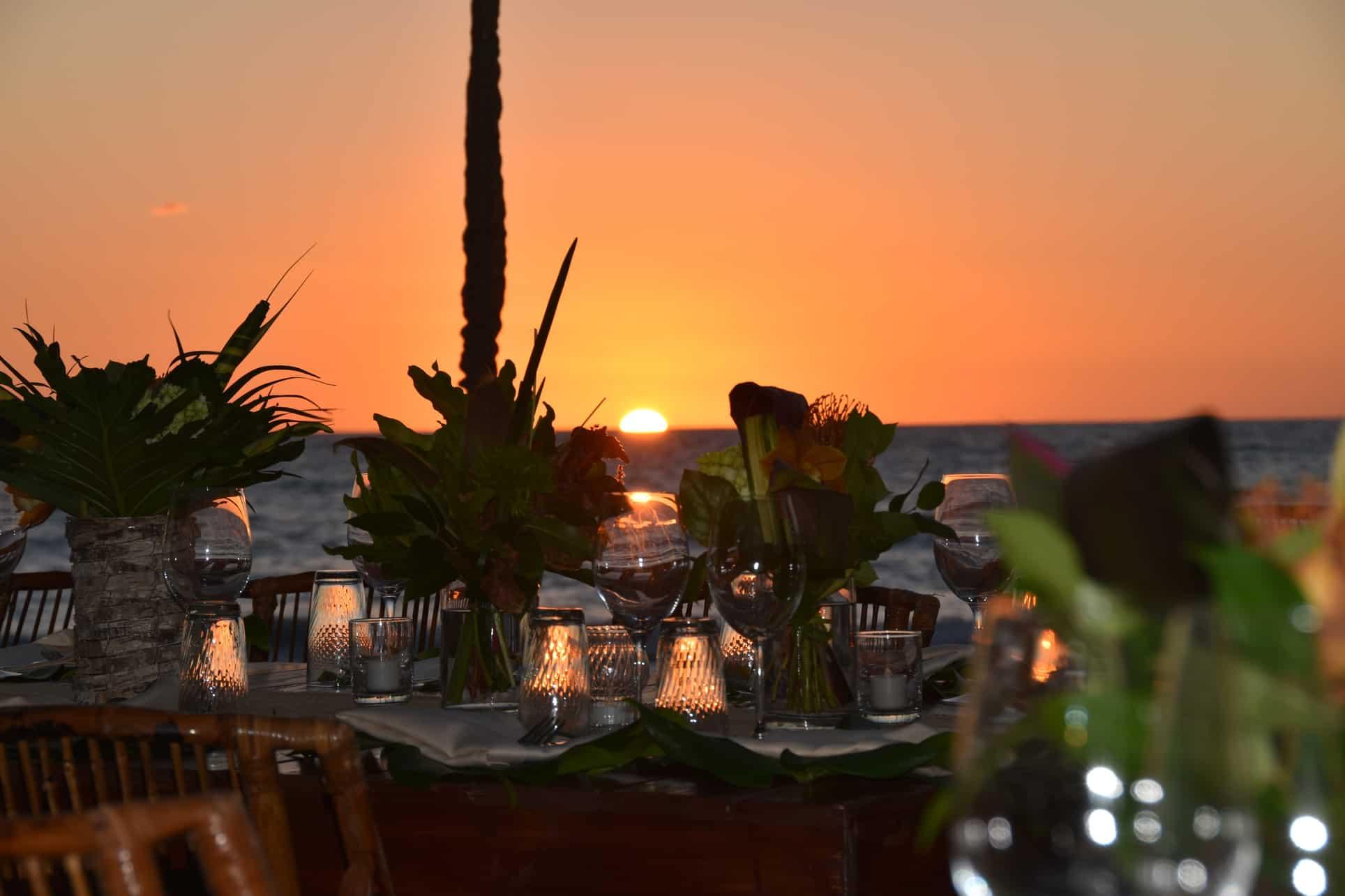 corporate event sunset cayman islands