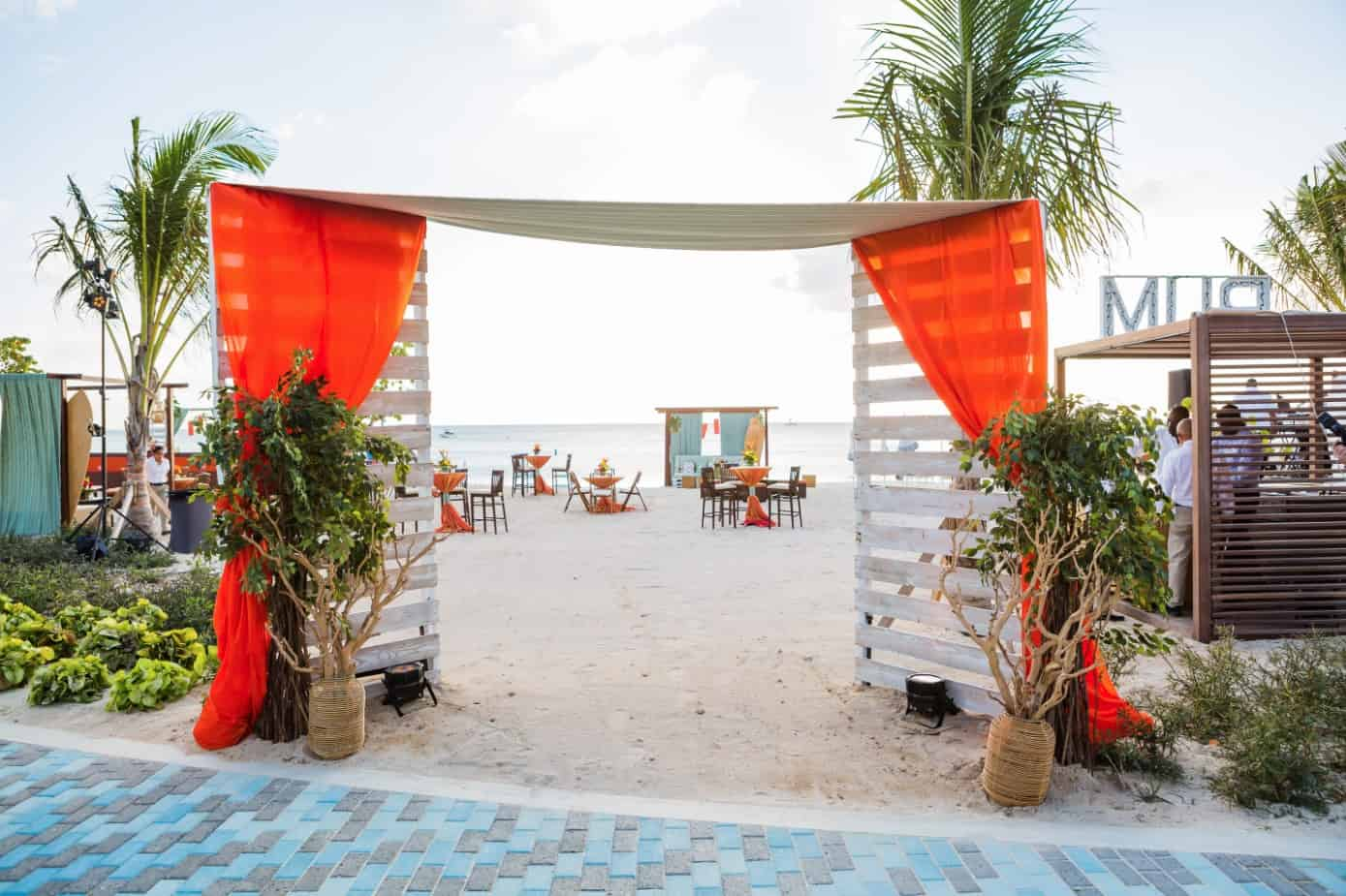entrance-beach-event-cayman-islands-beach-reception-corporate-event-by-celebrations-ltd-2
