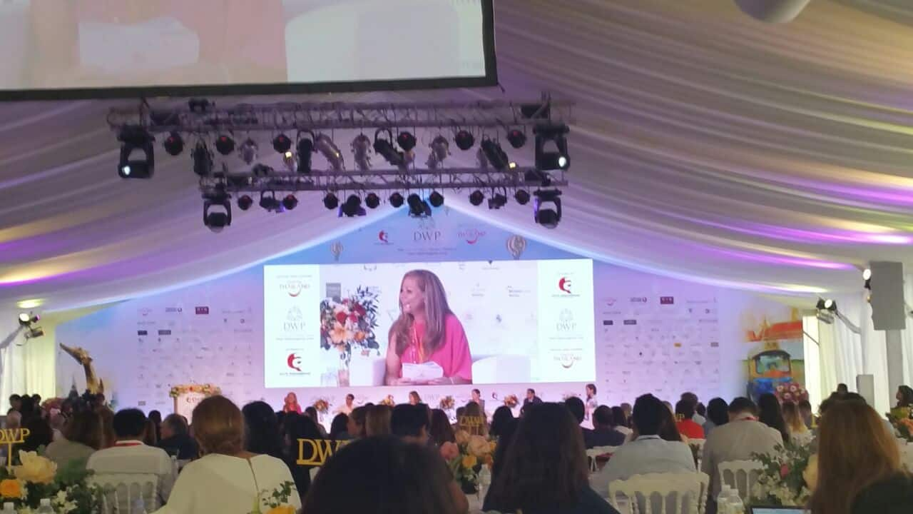 Public Speaker on Weddings & Published Author of Caribbean Wedding Style speaking at the Destination Wedding Planners Congress in Phuket, Thailand