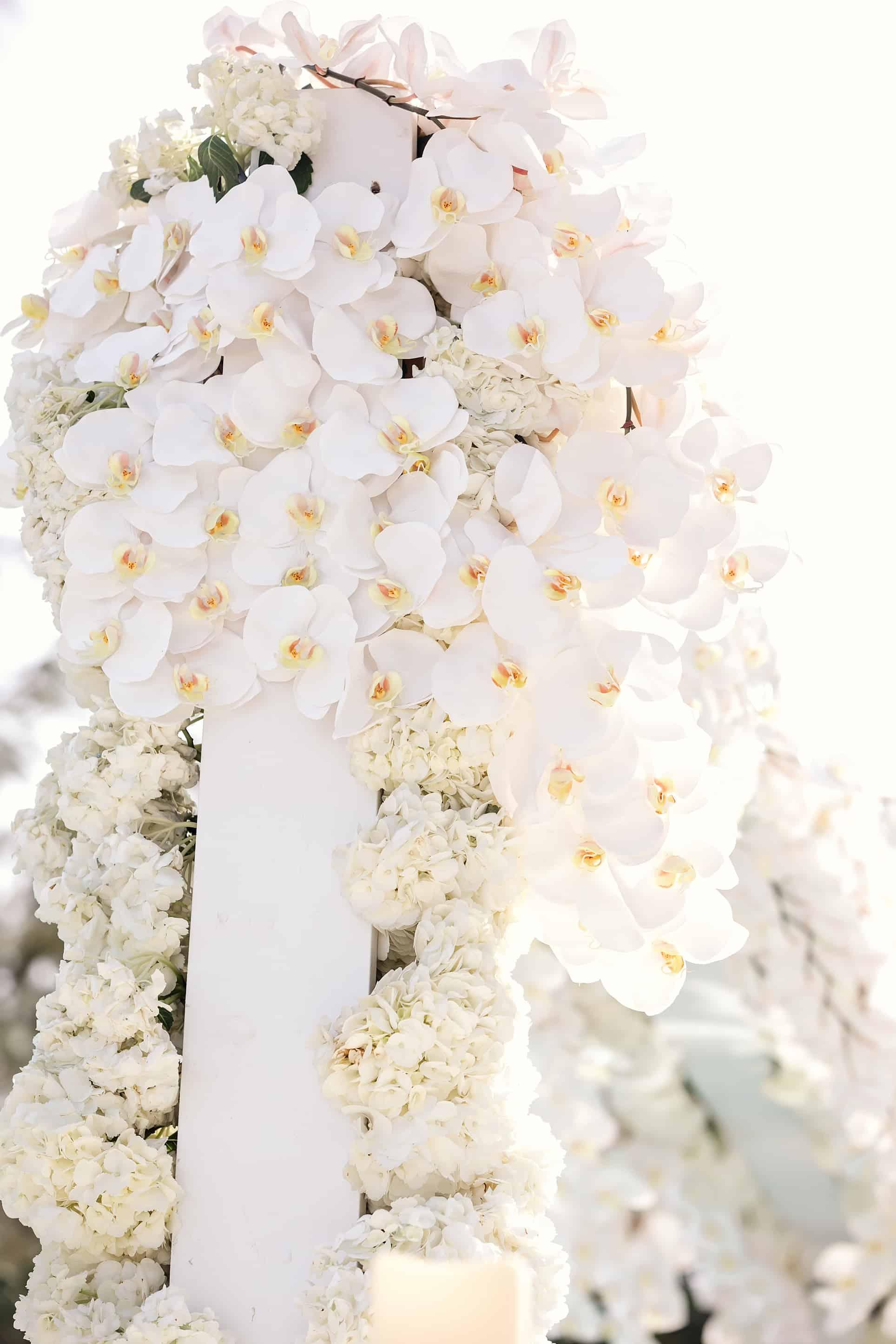 Silver White Destination Wedding Design and Decor by JoAnne V Brown of Celebrations Ltd & JVB Design House in the Cayman Islands