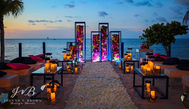 17-destination-wedding-ceremony-cayman-islands-evening-beach