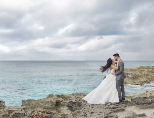 "A CAYMAN ISLANDS WEDDING OF ELEGANCE & ROMANCE: MARIANA & JOE, 2ND ANNUAL ""WIN A WEDDING"" COUPLE"