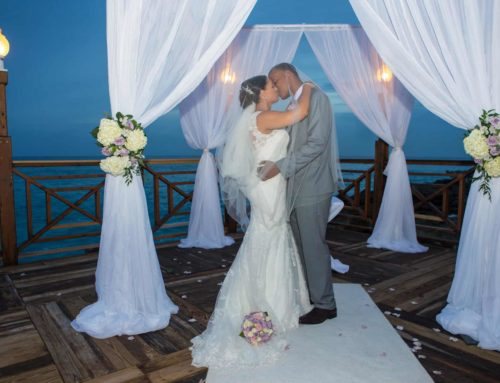 SHARI & HAYMOND'S ELEGANT WHITE & LAVENDER CAYMAN ISLANDS WEDDING