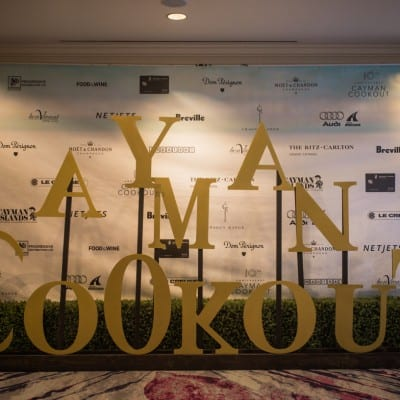 PROUD SPONSOR OF CAYMAN COOK OUT AT THE RITZ CARLTON IN THE CAYMAN ISLANDS