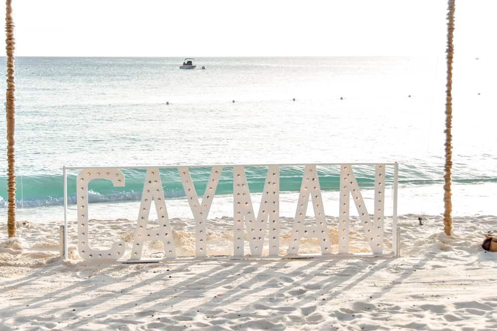 Cayman light sign at Westin, Grand Cayman - Celebrations Cayman Wedding and Event Planners