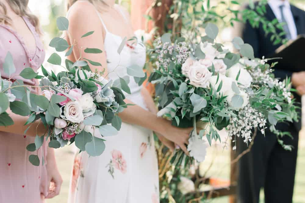 Elegant bohemian bridesmaids bouquets for Grand Cayman wedding by Celebrations Cayman Islands wedding planners