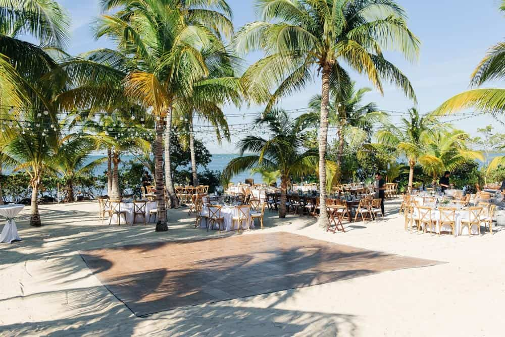 Wedding set up on the beach in Grand Cayman, Cayman Islands by Celebrations wedding planners