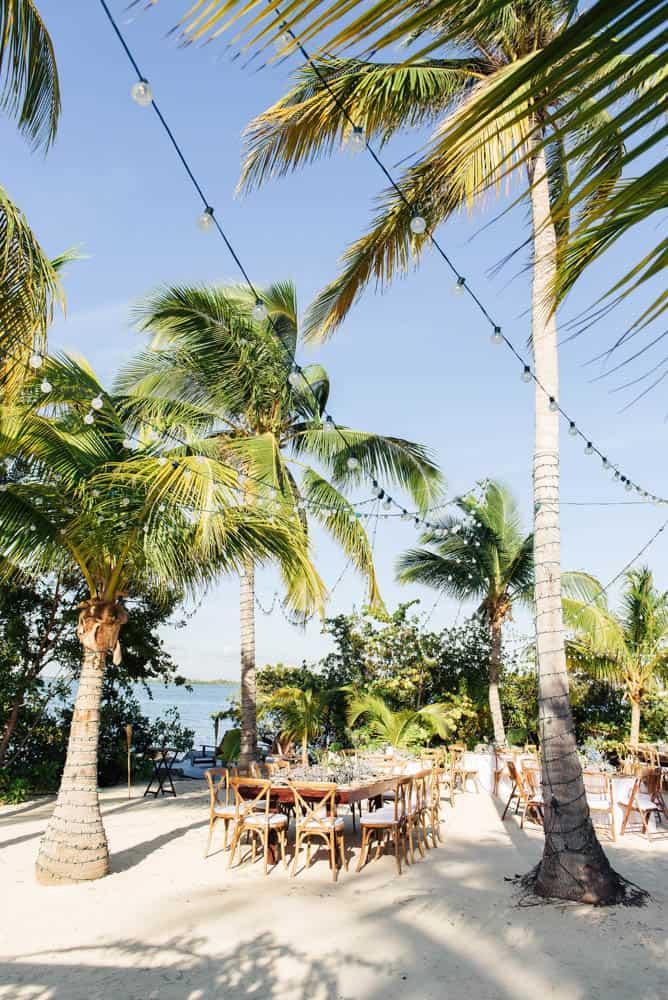 Elegant bohemian wedding reception on the beach in Grand Cayman, Cayman Islands by Celebrations wedding planners