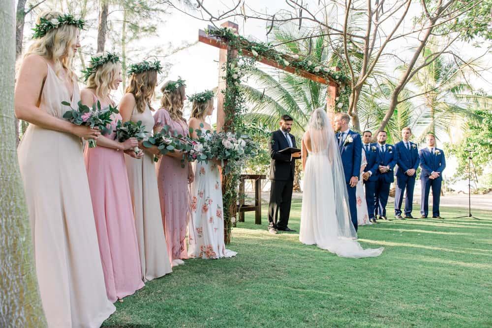 Elegant botanical bohemian wedding decor in Grand Cayman by Celebrations Wedding Planners