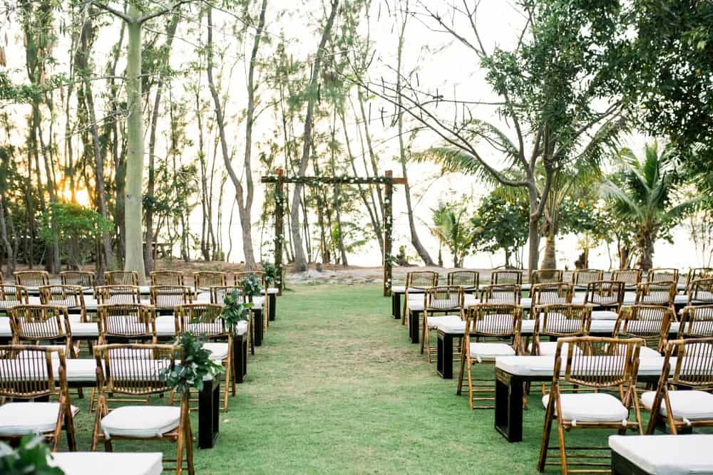 Rustic botanical bohemian wedding destination wedding in Grand Cayman | Celebrations Cayman Wedding Planners