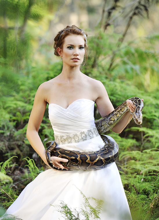 Bride with a snake