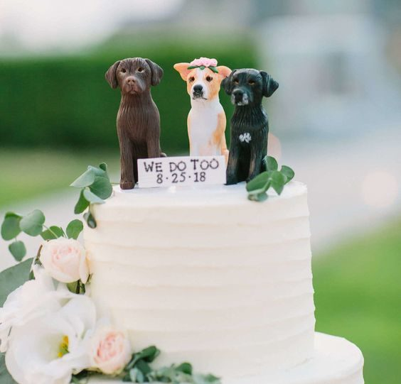 Wedding Cake Topdecoration of Dogs